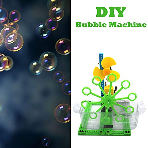 (Hisoul DIY Bubble Machine Toys Science Education Children Homemade Science Experiment Toys for Kids Boys Girls Age of 4,5,6,7,8-16 Outdoor and Indoor Party Use)