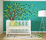 LUCKKYY Tree Blowing in The Wind Tree Wall Decals