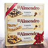 El Almendro Turron Almond Candy 3 Variety Pack 7.5 Ounces Box