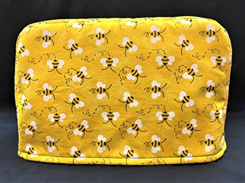 (Bumble Bees on Yellow Reversible 4 Slice Toaster Cover 11.5