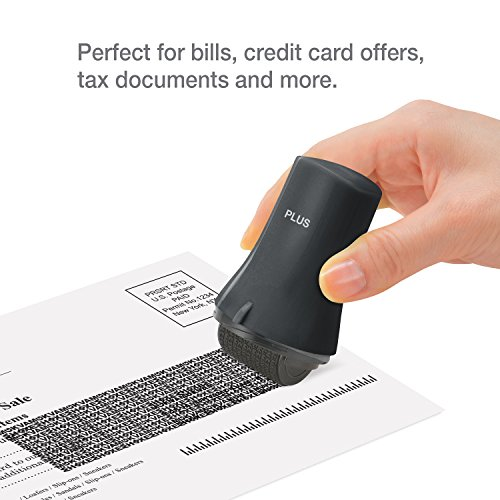 Guard Your ID ADVANCED WIDE Roller Identity Theft Prevention Security Stamp BLACK by Guard Your ID (Image #3)