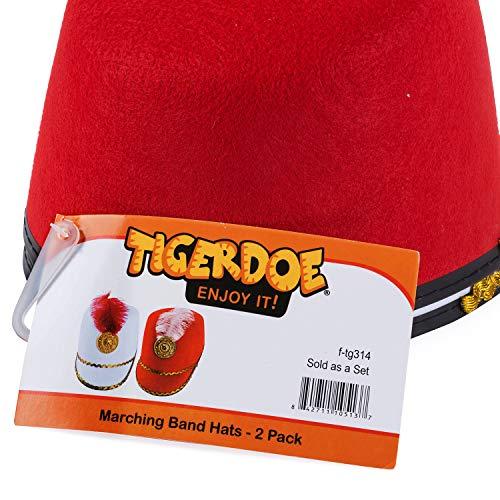 52efe8b74f536 Tigerdoe Marching Band Hat - 2 Pack - Nutcracker Hat - Soldier Hat - Drum  Major