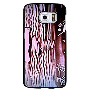 Samsung Galaxy S6 Edge Plus Mobile Cover Shiny And Lovely 3D Protective Phone Case Snap on Samsung Galaxy S6 Edge Plus Sand Painting Of Purple Sunset On The Sea Pattern Cellphone Shell