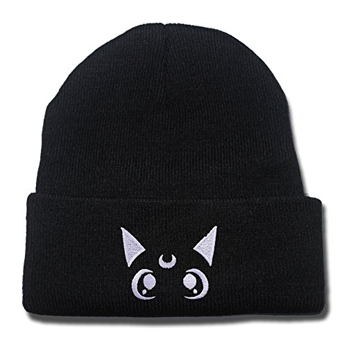 LIFA Popular Symbol Of Sailor Moon Crystal Luna Cat Face Beanie Embroidery (Casper The Friendly Ghost Costume)