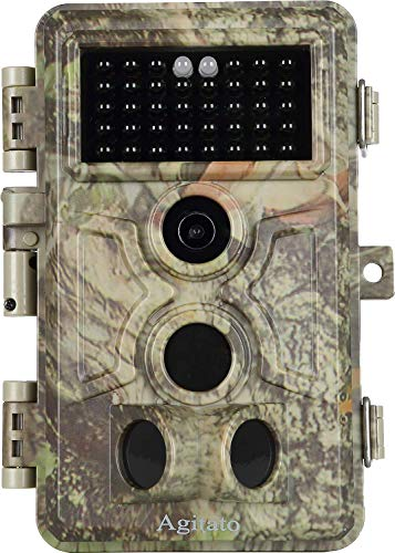[2020 Upgrade] Game Trail Deer Hunting Camera with Night Vision Full HD 16MP Photo 1920x1080P Video Motion Activated IP66 Waterproof Wildlife Camera 0.2S Trigger Speed Time Lapse Photo and Video Model