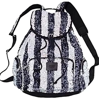 604f6b630be4 Image Unavailable. Image not available for. Color  Victorias Secret Pink Bling  Sequins Love Pink Backpack ...