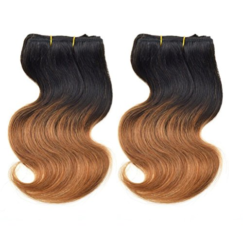 Emmet 2Bundles/lot 100g 50g/pc Short Size 8Inch Brazilian Bodywave Human Hair Extension 100% Human Hair Weave (Where To Buy Red Contacts)