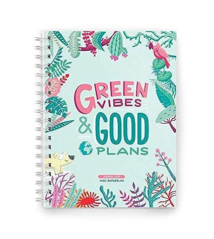 Missborderlike - Agenda Anual 2020 Día vista - Green vibes & good plans