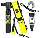 New 3.0CF Spare Air Package for Scuba Divers with Fill Adapter, Holster, Leash, and FREE Quick Release Coil Lanyard ($15.95 Value)