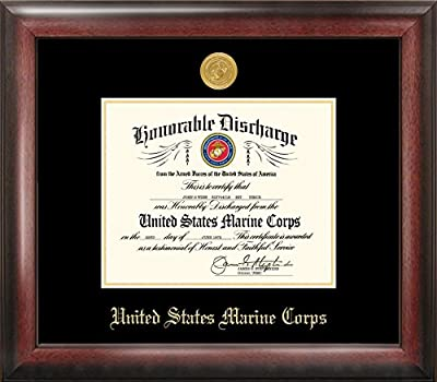 "Campus Images""Marine Discharge"" Frame with Gold Medallion, 8.5"" x 11"""