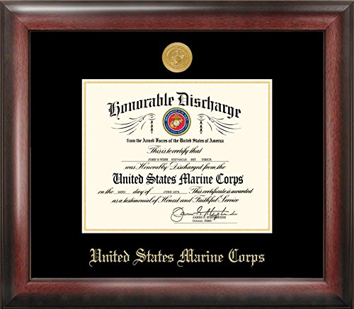 Campus Images ''Marine Discharge'' Frame with Gold Medallion, 8.5'' x 11'' by Patriot