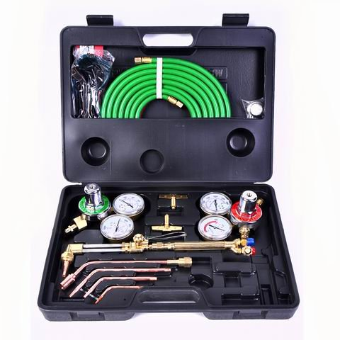 Toolsempire Gas Welding & Cutting Kit Oxygen Torch Acetylene Welder Victor Type Tool Set (Light Cutting Torch)
