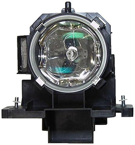 V7 DT00771, SP-LAMP-027, 456-8943 Original Bulb Inside Replacement Lamp with Housing for HITACHI, DUKANE, INFOCUS Projectors HITACHI CP-X600,CP-X605,CP-X608, CP-X505 ; DUKANE 8918, 8943, 8944 ; INFOCUS IN42 (Replacement Lamp Hitachi Dt00771)