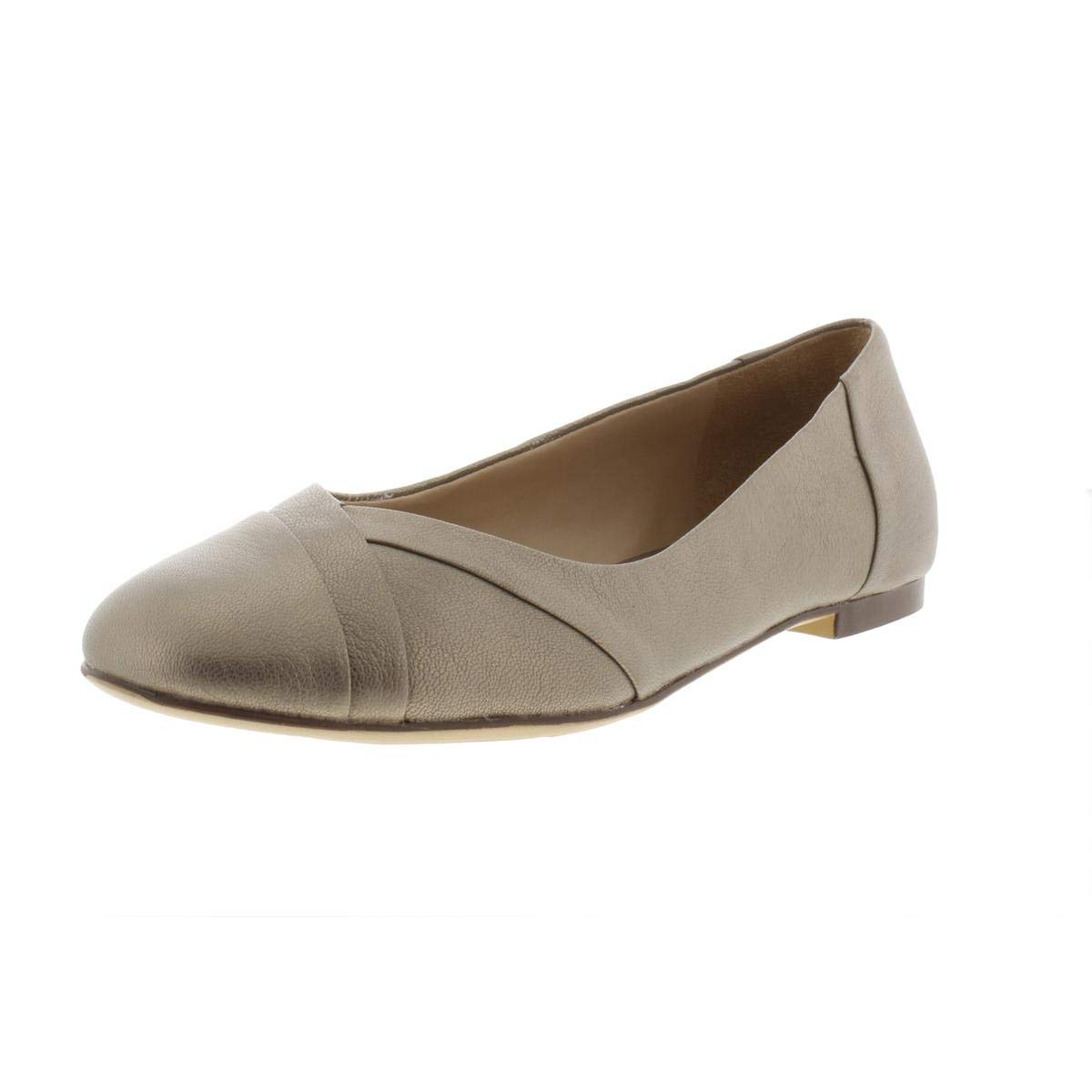 Zinc Leather Naturalizer Womens Gilly Flat
