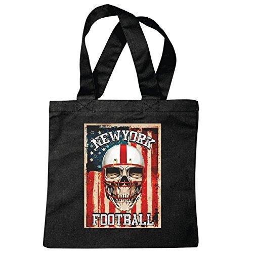 Tasche Umhängetasche American Football - Fußball - Sport - Rasensport - Trainer - Schiedsrichter Einkaufstasche Schulbeutel Turnbeutel in Schwarz