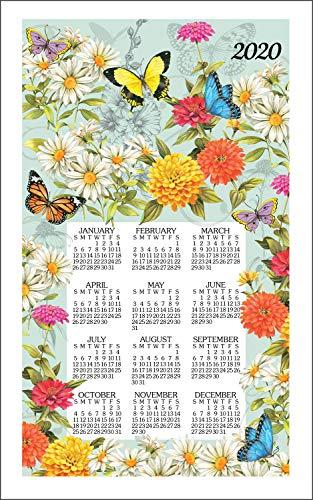 2020 Butterfly Garden by Sandy Clough Linen Calendar Towel (F3339)