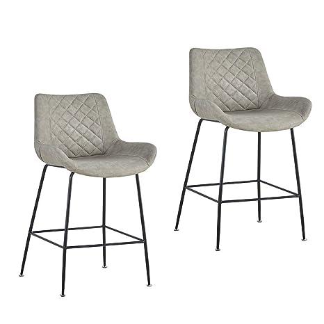 Amazon.com: Zzmop - Juego de 2 taburetes de bar y sillas de ...