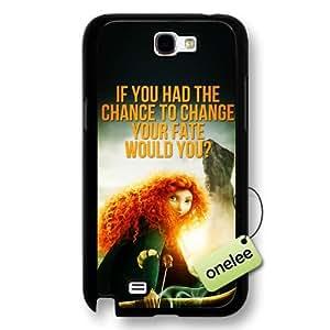 Disney Brave Princess Merida Hard Plastic Phone Case & Cover for Samsung Galaxy Note 2 - Black wangjiang maoyi by lolosakes