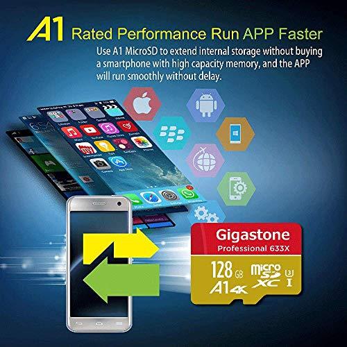SHOPUS   Gigastone 128GB Micro SD Card MicroSD U3 UHS-I C10, UHD 4K