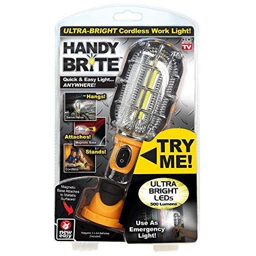 (Ontel Handy Brite | Heavy Duty, Cordless LED Light | Quick and Easy Light Anywhere | Rechargeable, Compact, Lightweight)