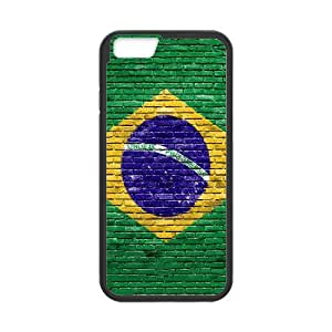 Brasil Brick Wall Case Cover For Ipod Touch 4 Cute For GirlS Luxury Case Cover For Ipod Touch 4 [Black]
