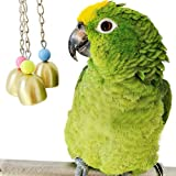 Parrot Bell Toy, loveone Bird Cage Toys for African Greys/Cockatoo/Scarlet Macaw/Nautiloids