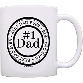 Father's Day Gift Best Dad Ever Number 1 Dad Gift Ideas Birthday Gift Coffee Mug Tea Cup White