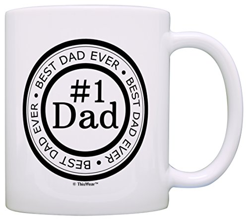 Father's Day Gift Best Dad Ever Number 1 Dad Gift Ideas Birthday Gift Coffee Mug Tea Cup White]()