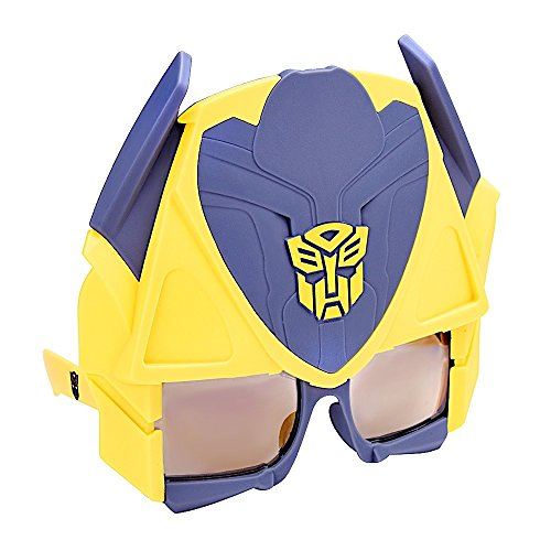 Sunstaches Transformers Bumblebee Instant Costume Licensed Sunglasses (Transformer Dress Up)