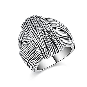 Chunky Silver Rings For Women Amazon