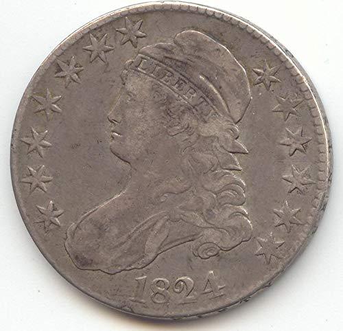1824 Capped Bust Half Dollar Choice Very Fine
