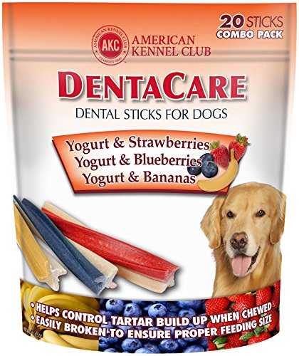 Image of American Kennel Club Dentacare Dog Sticks, Yogurt And Fruit Combo Pack