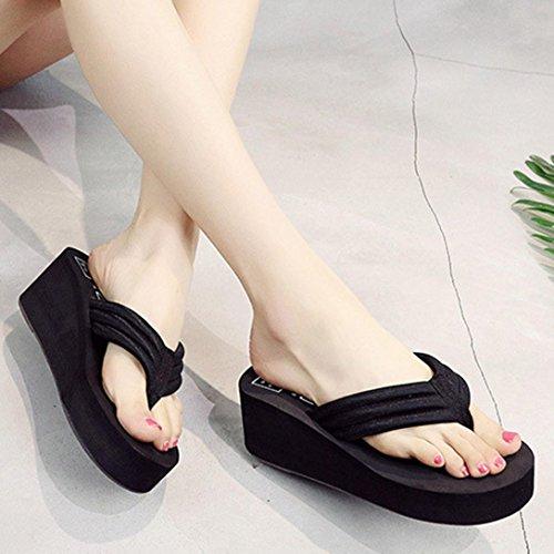 Amlaiworld Women Sandals,Sexy Women Flip Flops Slippers Beach Sandals Summer Home Shoes Black