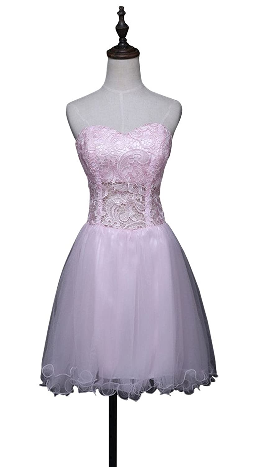 Vimans@ Girls Short Pink Formal Pageant Cocktail Party Dresses Sweetheart
