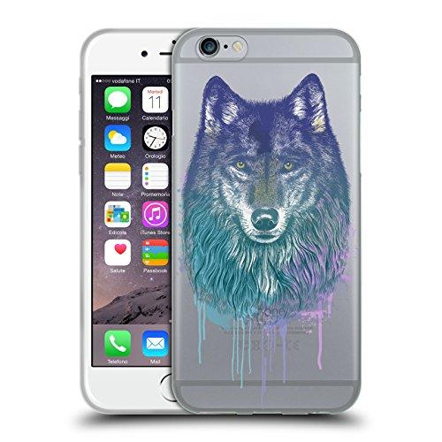 Officiel Rachel Caldwell Loup Animaux 2 Étui Coque en Gel molle pour Apple iPhone 6 / 6s