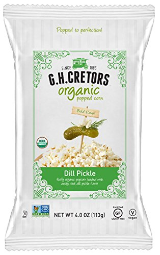 G.H. Cretors Organic Dill Pickle, 4 Ounce (Pack of 12)