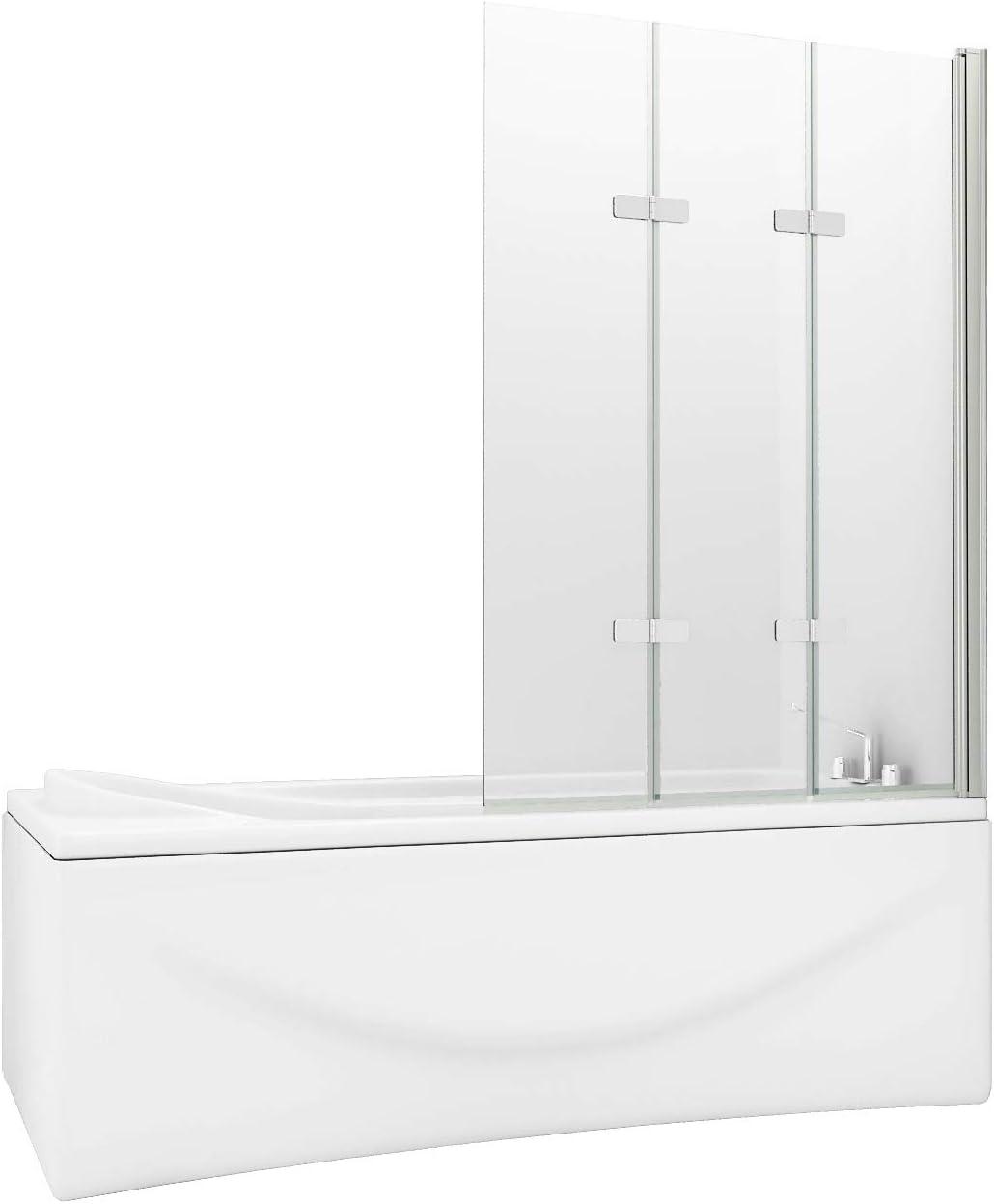 HNNHOMER 180° Pivot - Pantalla para bañera o ducha (cristal de 6 mm): Amazon.es: Bricolaje y herramientas