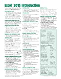 Microsoft Excel 2013 Introduction Quick Reference Guide (Cheat Sheet of Instructions, Tips and Shortcuts - Laminated Card), Beezix Inc., 1936220768