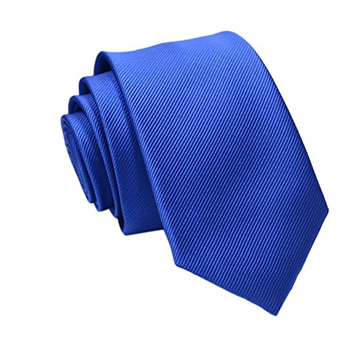 Gifts For Men ! Charberry Mens Trendy Solid Color Tie Casual Slim Plain Mens Solid Skinny Neck Party Wedding Necktie (F) from Charberry