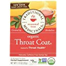 Traditional Medicinals Organic Throat Coat Herbal Wrapped Tea Bags - 16 ct