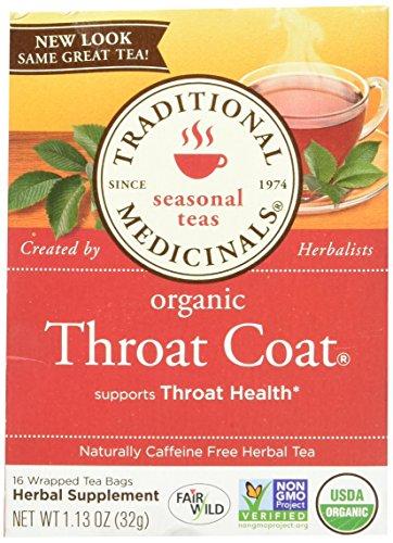 Traditional Medicinals Organic Throat Coat Herbal Wrapped Tea Bags - 16 (Buy Throat Coat)