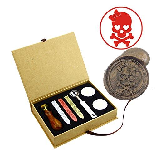 skull wax stamp - 9