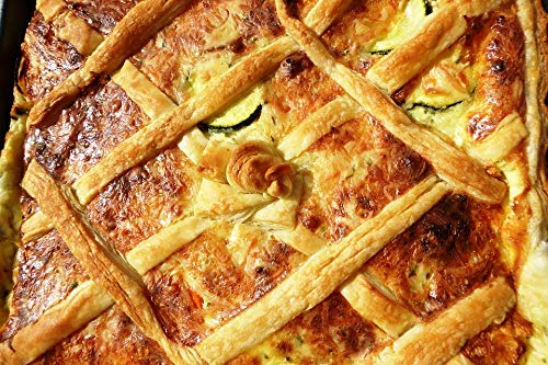 - Home Comforts Peel-n-Stick Poster of Vegetable Pie Eat Bake Puff Pastry Nutrition Pate Vivid Imagery Poster 24 x 16 Adhesive Sticker Poster Print