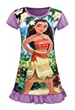 AOVCLKID Moana Comfy Loose Fit Pajamas Girls Printed Princess Dress (Purple 2,110/3-4Y)