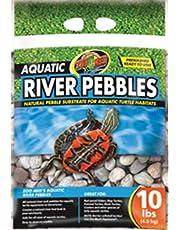 Zoo Med Laboratories Aquatic River Pebbles for Aquatic-Turtle Habitats, 10 lb