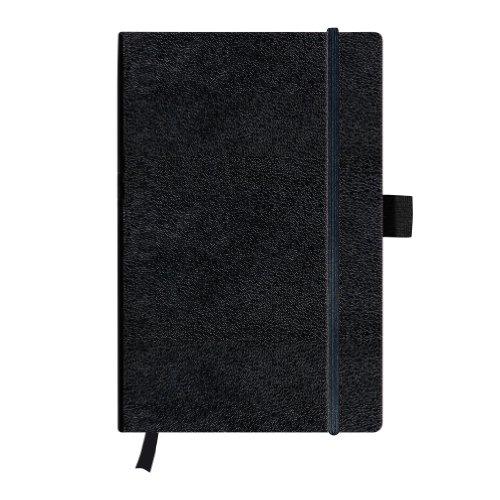 Herlitz 11369790 Notizbuch my.book Classic A5, 96 Blatt, blanko, schwarz