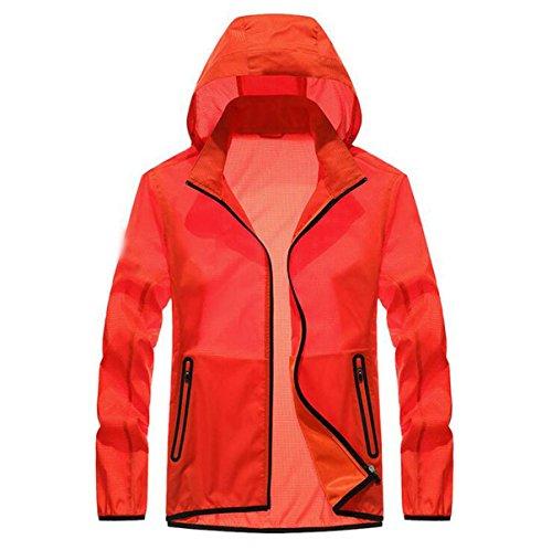 Orange Upf30 Vento Essiccazione Pelle Sottile Giacca Maschile Outdoor A Contro PRxqwPzC