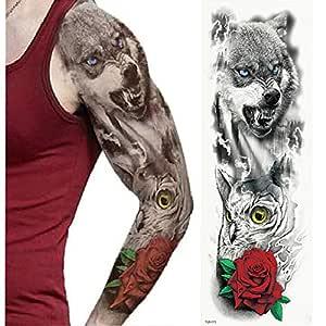 tzxdbh 5Pcs- Tatuaje De Brazo Completo, Pegatinas De Tatuaje A ...
