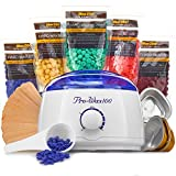To be beautiful Wax Warmer (Heater) Hair Removal Kit The Greatest Value For The Money with 5 Pack of Hard Wax Beans (Beads) Wooden Spatulas (20 pcs) 3 Small Bowls 20 Body Wax Strips 1 Wax Spoon