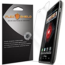 Motorola Droid RAZR MAXX Screen Protector [5-Pack], Flex Shield - Ultra Clear Japanese PET Film with Lifetime Warranty - Bubble-Free HD Clarity with Anti-Fingerprint & Scratch Resistance